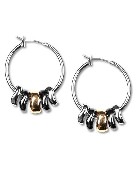 Nine West | Metallic Earrings, Tri-tone Shaky Hoop Earrings | Lyst