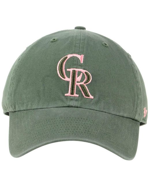 new arrival 38736 13b0f ... 47 Brand - Green Colorado Rockies Moss Pink Clean Up Cap for Men - Lyst  ...