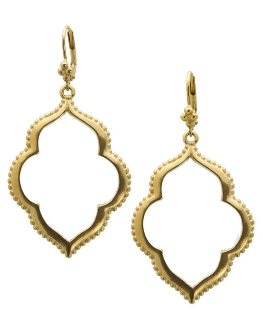 T Tahari | Metallic 14k Gold-plated Drop Earrings | Lyst