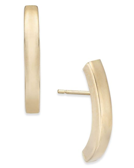 Macy's - Metallic Stick Linear Earrings In 10k Gold - Lyst