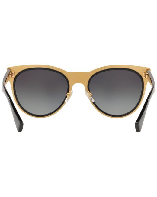 be2570d291 ... Versace - Black Polarized Round Metal Medusa Head Sunglasses for Men -  Lyst ...