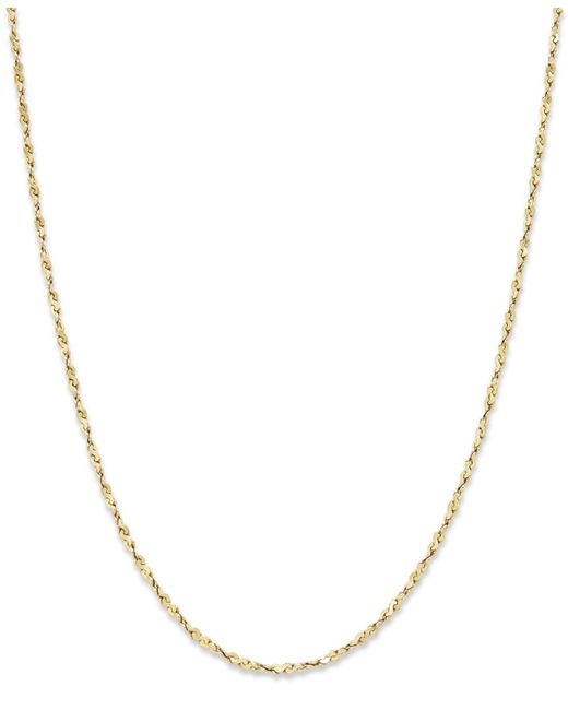 """Giani Bernini - Metallic 18k Gold Over Sterling Silver Necklace, 18"""" Box Chain - Lyst"""
