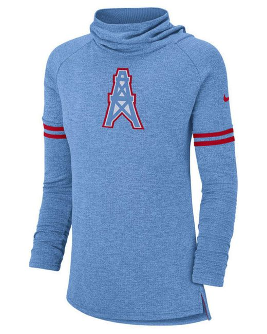 Nike - Blue Tennessee Titans Funnel Neck Long Sleeve T-shirt - Lyst