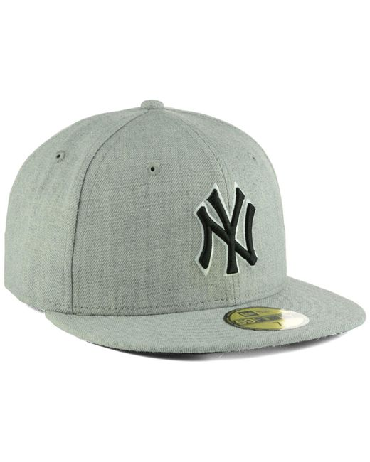 detailed pictures 2248b 2f14a ... KTZ - Gray New York Yankees Heather Black White 59fifty Cap for Men -  Lyst ...