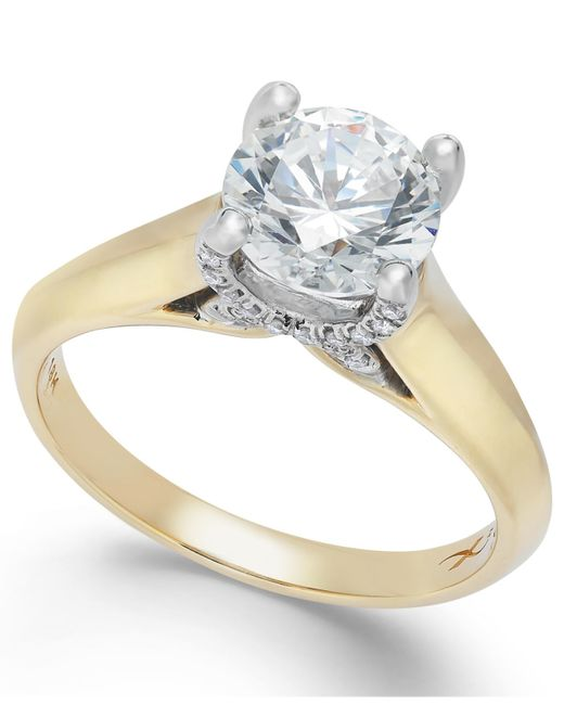 X3   Certified Diamond Solitaire Engagement Ring In 18k White Gold (1 Ct. T.w.)   Lyst