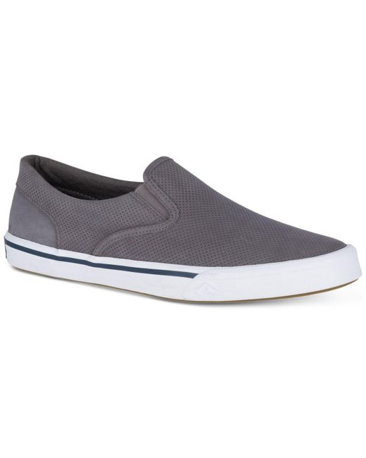 Sperry Top-Sider - Gray Striper Ii Twin Gore Leather Slip-on Sneakers, Created For Macy's for Men - Lyst