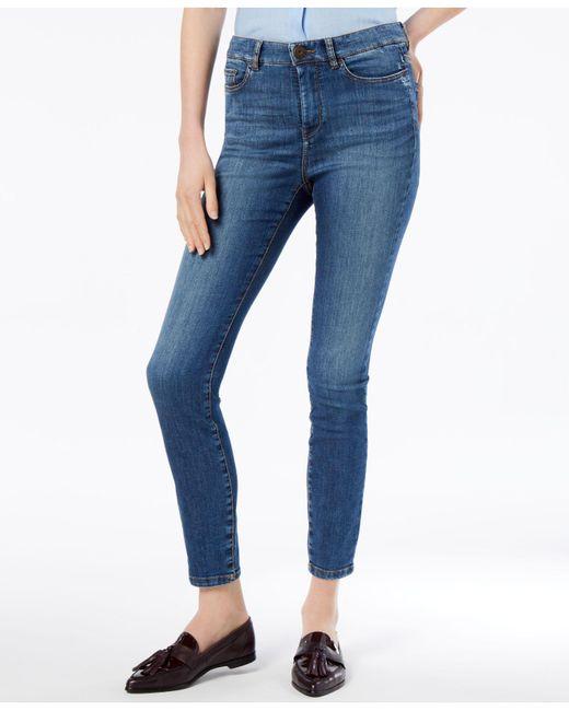 Weekend by Maxmara - Blue Skinny Cropped Jeans - Lyst