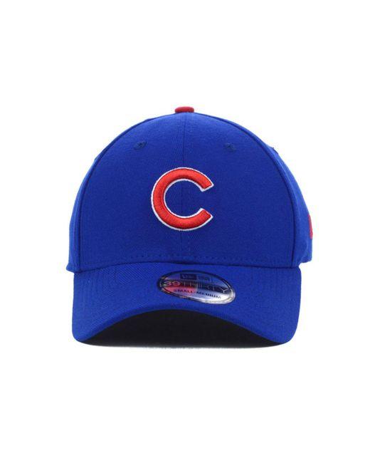 3f090d6936f ... KTZ - Blue Chicago Cubs Mlb Team Classic 39thirty Cap for Men - Lyst ...