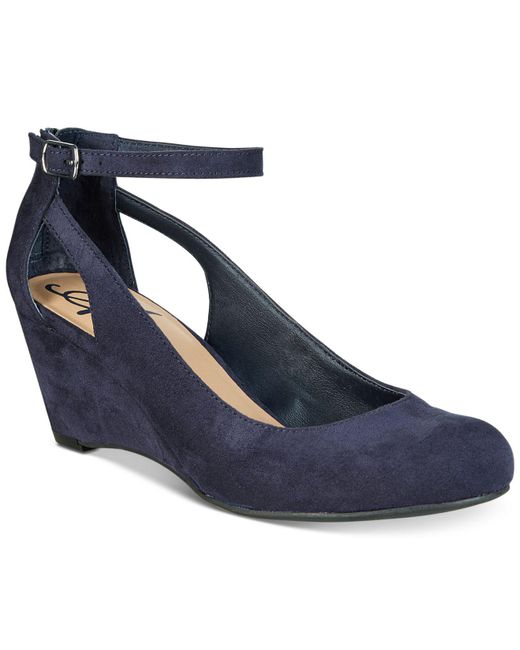 American Rag - Blue Miley Chop Out Wedges - Lyst