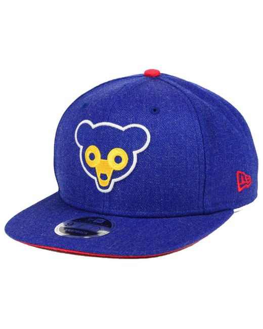 347e415eb45 KTZ - Blue Chicago Cubs Heather Hype 9fifty Snapback Cap for Men - Lyst ...