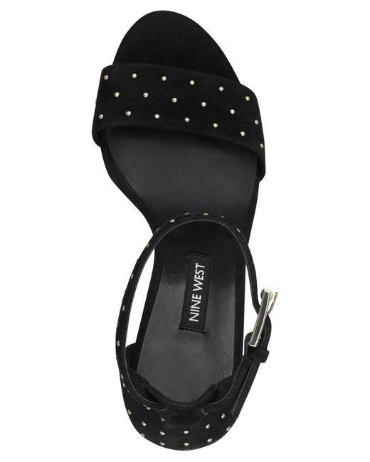 2936fa41310 ... Nine West - Black Notmyex Studded Sandals - Lyst ...