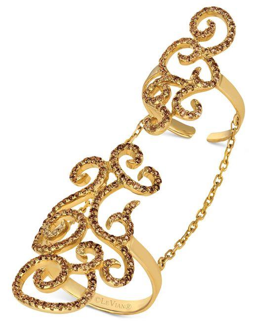 Le Vian - Metallic Diamond Knuckle Ring (1-1/6 Ct. T.w.) In 14k Gold - Lyst