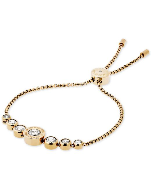 Michael Kors - Metallic Brilliance Logo Slide Bracelet - Lyst