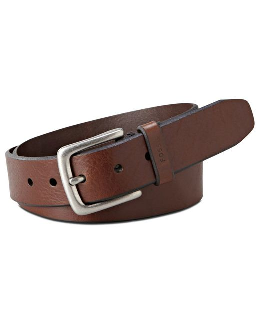 "Fossil | Brown Joe ""big & Tall Casual Leather Belt for Men 