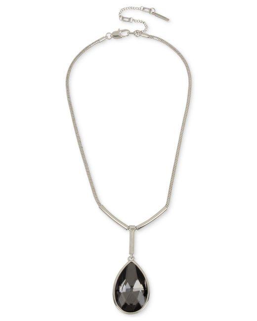 Kenneth Cole - Metallic Teardrop Pendant Necklace - Lyst