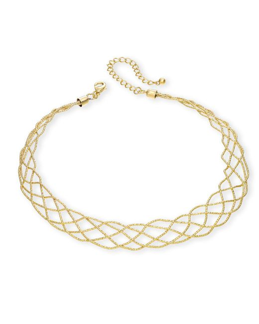 INC International Concepts | Metallic Gold-tone Wire-look Collar Necklace | Lyst