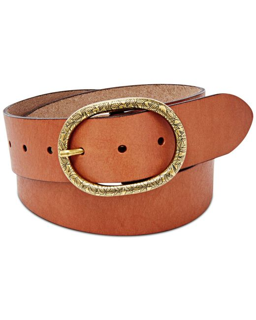 Fossil - Brown Vintage-inspired Leather Belt - Lyst