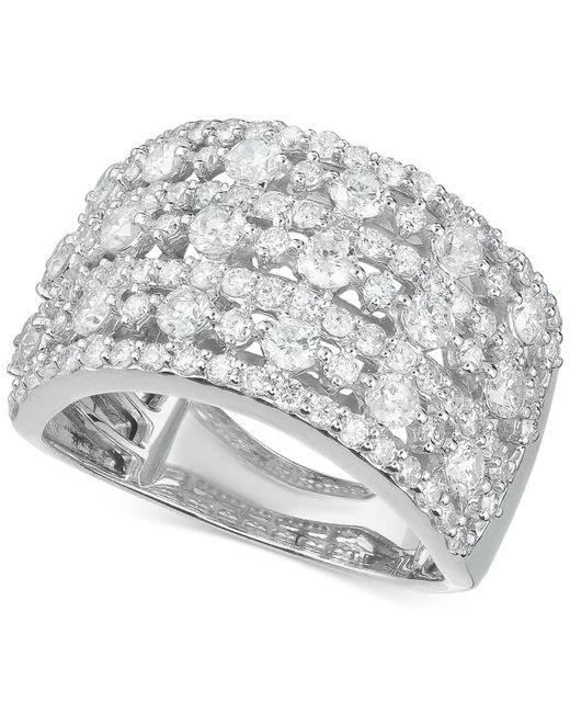 Macy'S Diamond Multi-row Wide Statement Ring (2 Ct