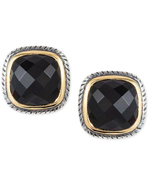 Effy Collection - Metallic Onyx (7 X 7mm) Stud Earrings In Sterling Silver & 18k Gold - Lyst