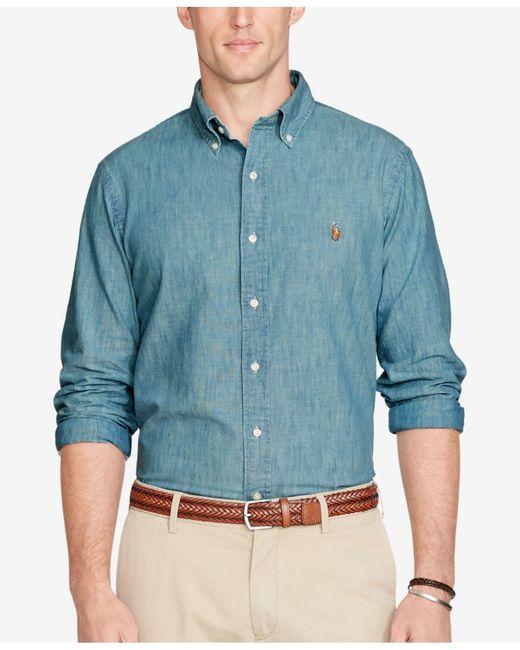 Polo Ralph Lauren - Blue Classic-fit Chambray Shirt for Men - Lyst