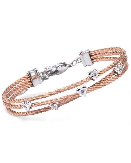 Charriol | Multicolor Women's Malia White Topaz-accent Two-tone Pvd Stainless Steel Cable Bangle Bracelet | Lyst
