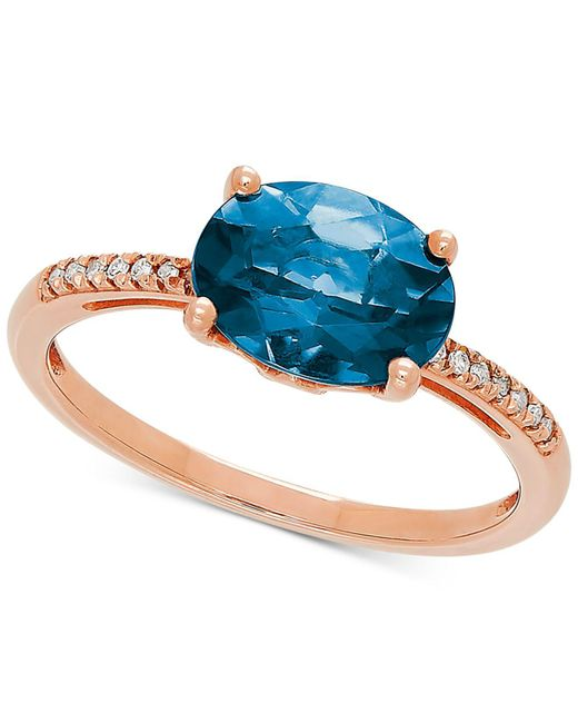 Macy'S London Blue Topaz (2-1/2 Ct. T.w.) & Diamond