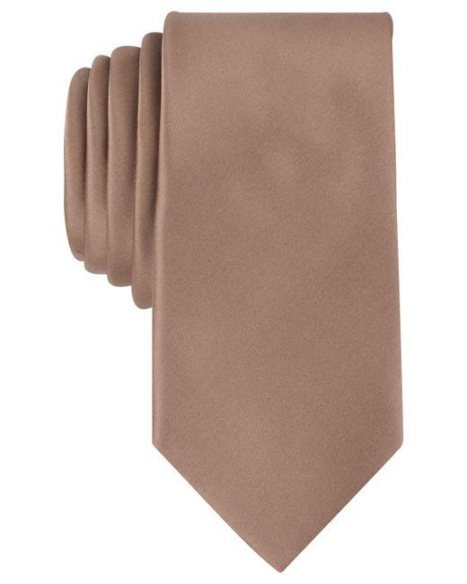 Perry Ellis | Brown Sateen Solid Tie for Men | Lyst