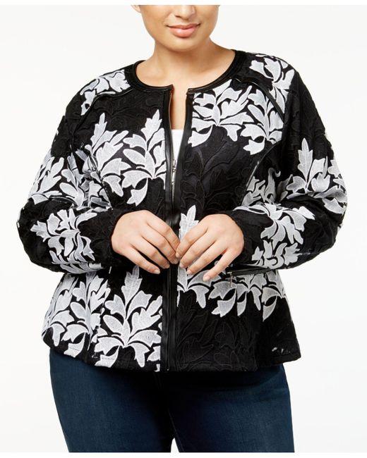 INC International Concepts   Black Plus Size Lace Jacket   Lyst