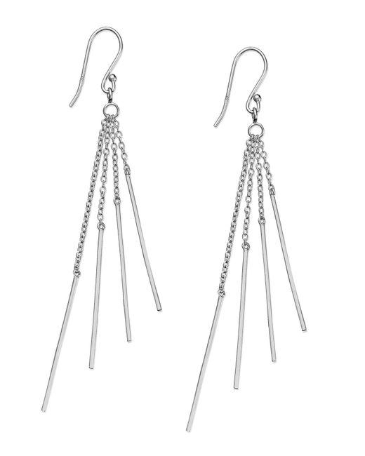 Giani Bernini | Metallic Sterling Silver Earrings, Sparkle Drop Earrings | Lyst