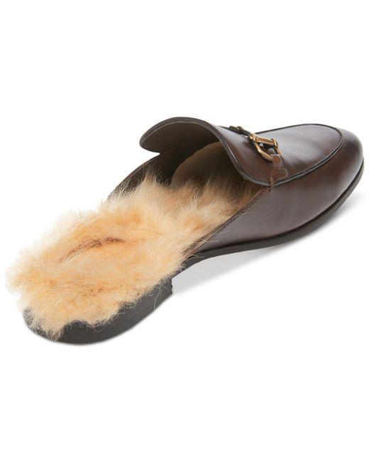 5244d748f1a ... Steve Madden - Brown Difranco Leather Bit Slip-ons for Men - Lyst ...