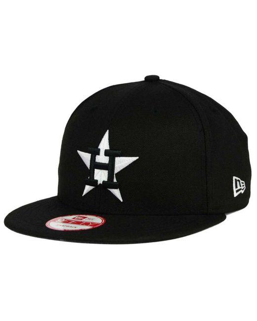 KTZ - Black Houston Astros B-dub 9fifty Snapback Cap for Men - Lyst