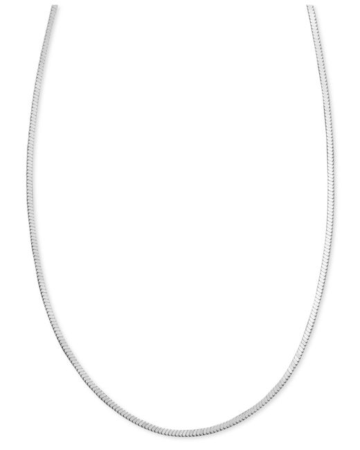 "Giani Bernini | Metallic Sterling Silver Necklace, 30"" Square Snake Chain 