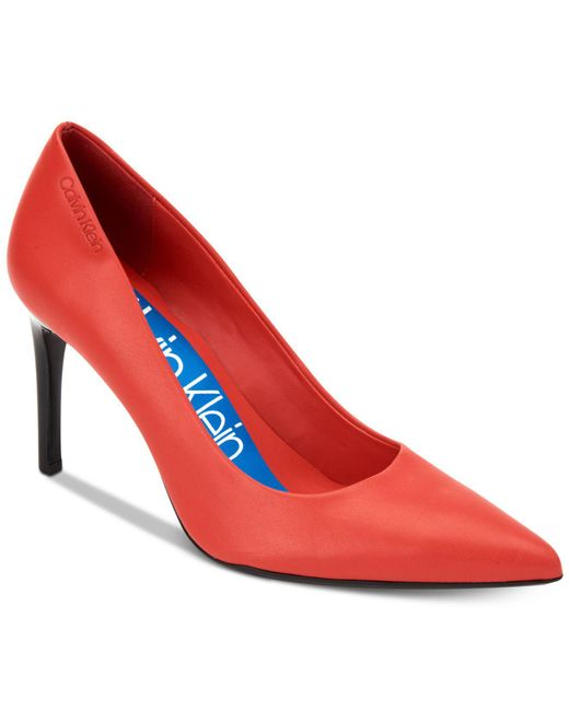 Calvin Klein - Red Rizzo Pumps - Lyst