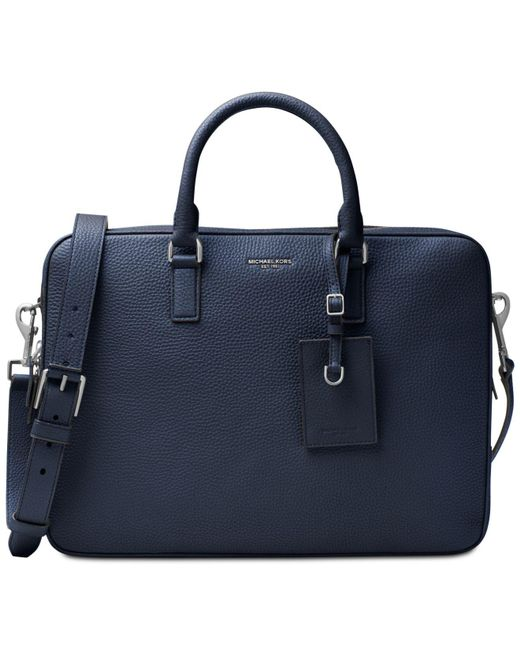 Michael Kors | Blue Bryant Large Briefcase for Men | Lyst