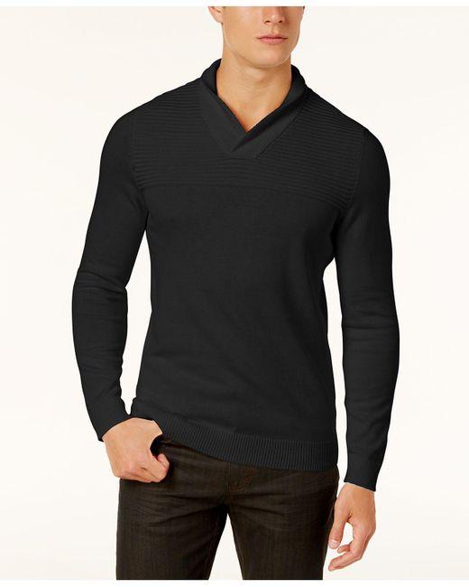 Alfani   Black Men's Textured Zip-front Cardigan for Men   Lyst