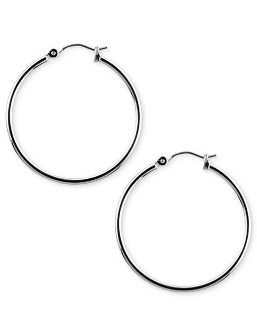 Nine West | Metallic Earrings, Silver-tone Hoop Earrings | Lyst