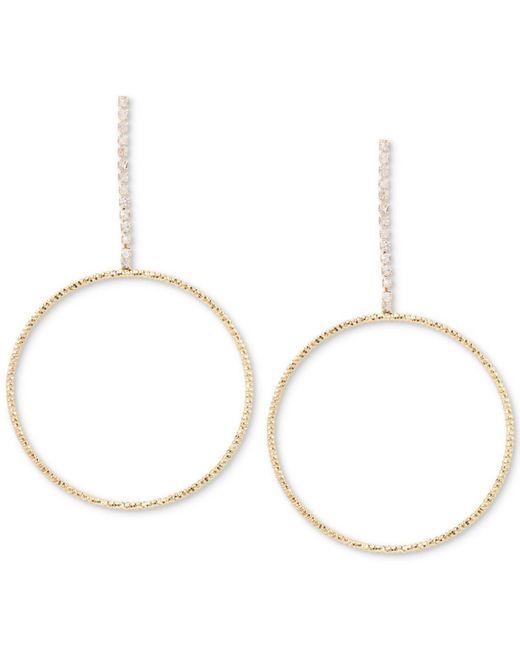 Hint Of Gold - Metallic Crystal Pavé Gypsy Hoop Earrings In Gold-plate - Lyst