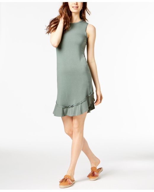 Maison Jules - Green Ruffled-hem A-line Dress, Created For Macy's - Lyst