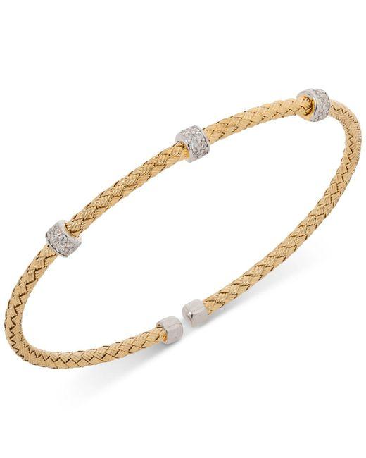Giani Bernini - Metallic Round Cz Weave Bangle Stack Bracelet In Sterling Silver - Lyst