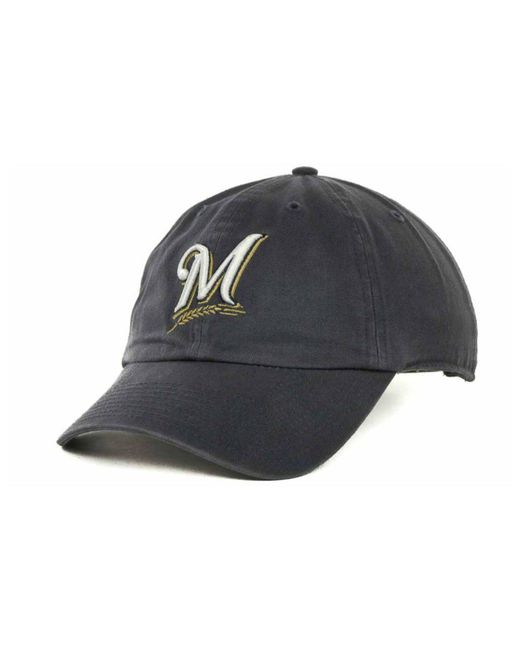 e03deac3f25e7 ... clearance 47 brand blue milwaukee brewers mlb clean up cap for men lyst  6141d 91298