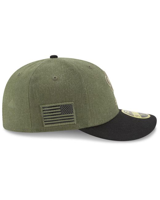 ... KTZ - Green New Orleans Saints Salute To Service Low Profile 59fifty  Fitted Cap 2018 for ... 25de086bd