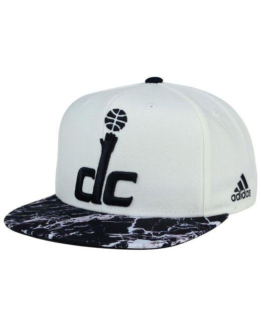 Adidas Originals | Washington Wizards White Marble Snapback Cap | Lyst