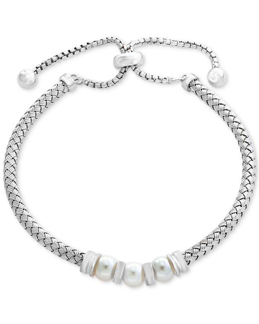 Effy Collection - Metallic Cultured Freshwater Pearl (6mm) Slider Bracelet In Sterling Silver - Lyst
