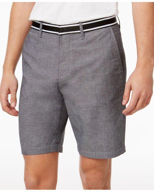 Original Penguin   Gray Men's Oxford Denim Shorts for Men   Lyst