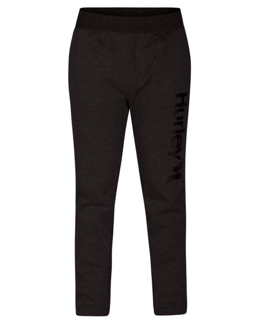 Hurley - Black One & Only Surf Check Fleece Track Pants - Lyst