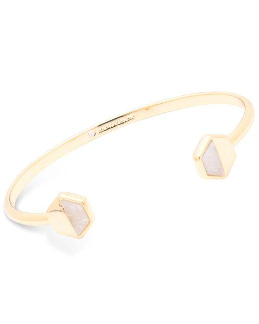 Ivanka Trump - Metallic Geometric Stone Cuff Bangle Bracelet - Lyst