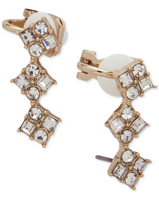 Ivanka Trump | Metallic Gold-tone Crystal Ear Climbers | Lyst