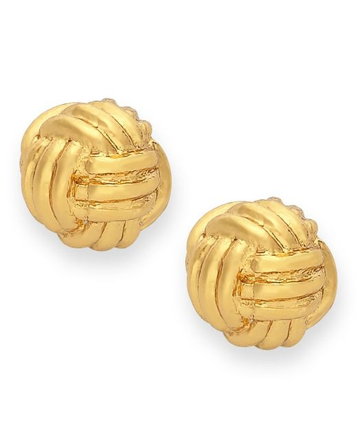 kate spade new york | Metallic Earrings, 12k Gold-plated Knot Stud Earrings | Lyst