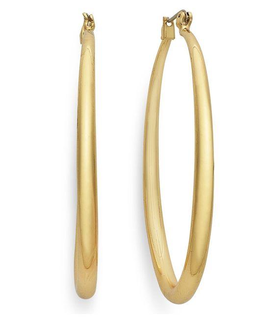 INC International Concepts   Metallic Gold-tone Small Hoop Earrings   Lyst