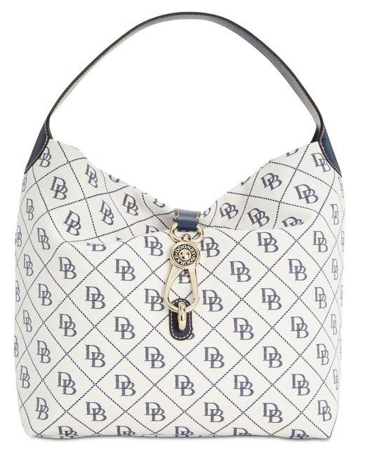 Dooney & Bourke - White Signature Quilt Logo-lock Medium Sac Handbag, Created For Macy's - Lyst